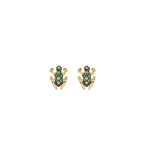 Earrings in emeralds