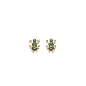 Orecchini in oro e smeraldi