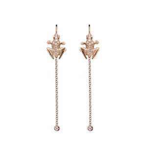 Orecchini pendenti in oro 18k e diamanti
