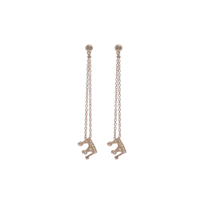 Earrings in 18k gold and pavé diamonds