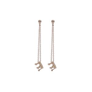 Orecchini in oro 18k e pavè di diamanti