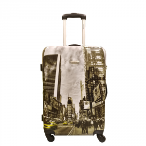 BESTBAGS - Big Apple -Trolley medio 4 ruote 60 cm rigido multicolore cod. 20080160