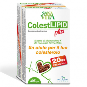 DIETARY SUPPLEMENT COLESTLIPID SANAVITA MONACOLIN K FROM RED YEAST RICE TO CONTROL THE PHYSIOLOGICAL CHOLESTEROL VALUES