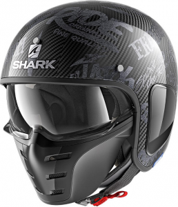 Casco jet Shark S-DRAK FREESTYLE CUP Carbonio Antracite Antracite