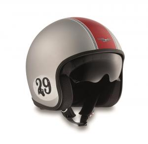 Casco jet Moto Guzzi RACING 29 in fibra Grigio