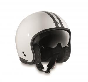 Casco jet Moto Guzzi STRIPES in fibra Bianco