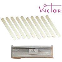 Wictor - Lima bianca dritta - Grana 80/100 - Confezione da 10 pezzi.