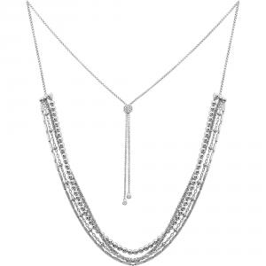 ROSATO-Collana multifilo in argento da donna