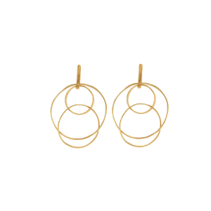 Multi circles earrings in 925 silver