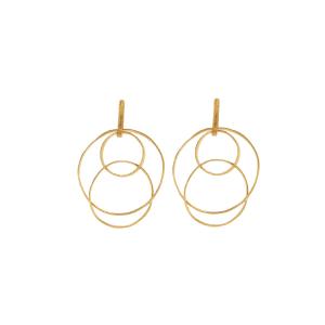 Orecchini multi circles in argento 925