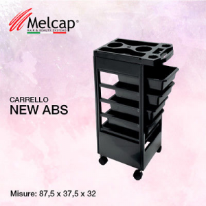 Melcap - NEW ABS - Carrello professionale porta accessori per parrucchieri