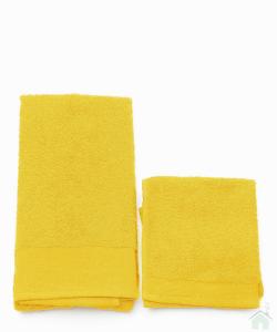 Asciugamani Happidea set 1+1 viso e mani, bagno piscina arredo narciso