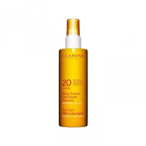 Clarins Latte-Fluido Solare Spray Delicato Antietà Idratante Spf20 150ml