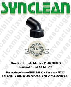 RUNDBÜRSTE schwarz ø 40 gültig für Staubsauger Ghibli AS27 und Synclean Maxiclean MX27