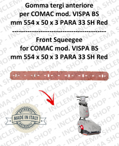VISPA 35 BS gomma tergi per lavapavimenti Comac