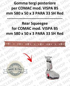 VISPA 35 BS rear Squeegee rubber Comac