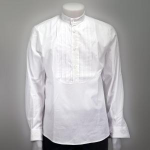 Camicia Plissettata Cotone Uomo