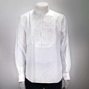 Camicia Cotone Uomo Bianca Ricamata