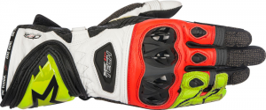 GUANTI MOTO ALPINESTARS SUPERTECH BLACK YELLOW FLUO RED COD. 3556017