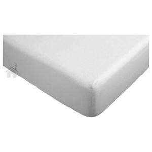 Lenzuola con angoli letto singolo maxi fuori misura 90x215 cm grigio perla