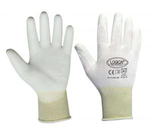 Guanti nylon bianco polso maglia flexy taglia 10
