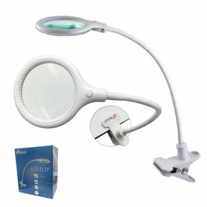 Melcap - LAMPADA LENTE LED CLIP DA TAVOLO ingrandimento 5 diottrie con 30 LED portatile