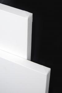 Tele 28mm in Misto Cotone tipo Gallery - profilo alto 28 mm - Tele Gallery 2,8 cm in Misto Cotone Bianche