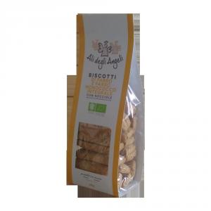 Biscotti di Farro e Farro monococco  senza zucchero con nocciole BIO - 200gr