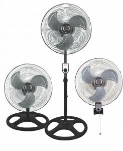 Ventilatore 3 In 1 Con 3 Velocità A Piantana Da Tavolo A Parete