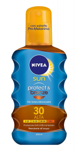 Nivea Sun Oil Spray Protect&Bronze Fp30 200Ml