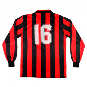 1989-90 Ac Milan Maglia Home #16 Simone Match worn (Top)