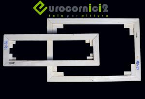 Telai 200x200 per tele - stampe - standard - profilo 2 cm - in legno di abete stagionato