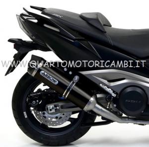 73515AKN - TERMINALE SCARICO ARROW RACE-TECH ALLUMINIO DARK KYMCO