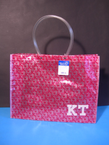 Hello Kitty borsa spesa PVC rosa shopping bag 40 cm originale