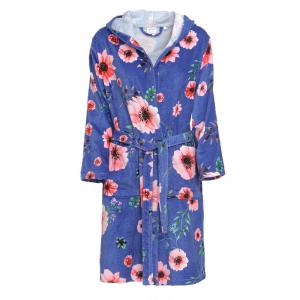 Accappatoio in spugna con cappuccio e cintura NOVIA - Summer blu