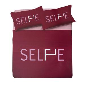 Set lenzuola matrimoniale 2 piazze ZER0BED Selfie bordeaux puro cotone