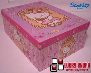 Scatola Hello Kitty  contenitore porta regalo giochi  24x15x10 cm