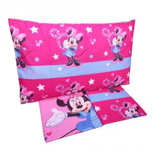 Completo lenzuola letto singolo 1 piazza Disney MINNIE puro cotone