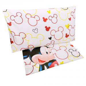 Completo lenzuola letto singolo 1 piazza Disney  MICKEY MOUSE puro cotone
