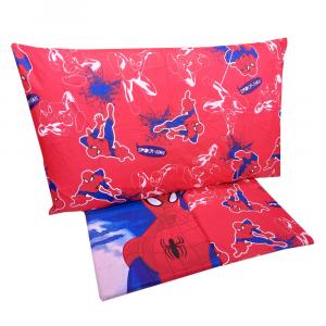 Completo lenzuola letto singolo 1 piazza Marvel SPIDERMAN rosso puro cotone