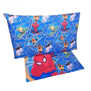 Completo lenzuola letto singolo 1 piazza Marvel SPIDERMAN blu puro cotone