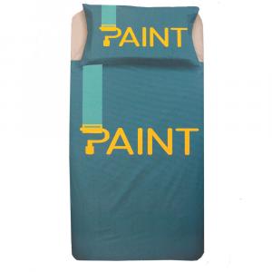 Set copripiumino singolo 1 piazza ZER0BED Paint verde puro cotone