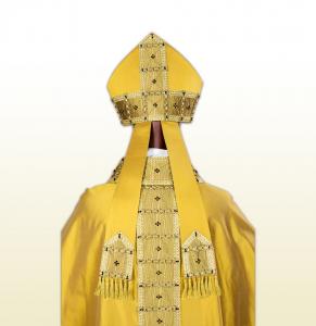 Mitria in Seta Oro Papale taglio Gotico.
