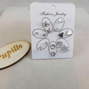 Completini 7pa mini orecchini metallo vetro