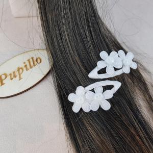 2 clic clac fiori bianchi f140036