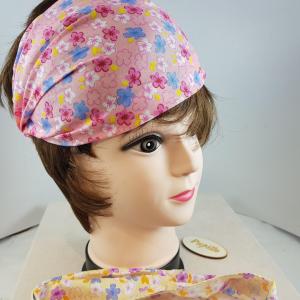 Fascia testa stoffa fiorata