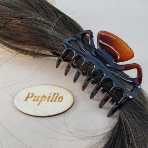 Pinza f.capelli plastica cm9