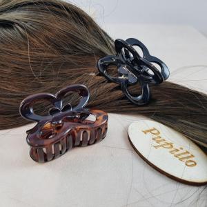 Pinza f.capelli plastica farfalla mm50