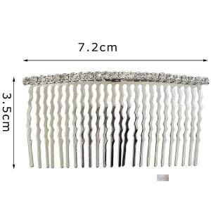 pettinini metallo strass cm7,20