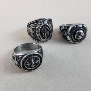 anello acciaio uomo 3 modelli